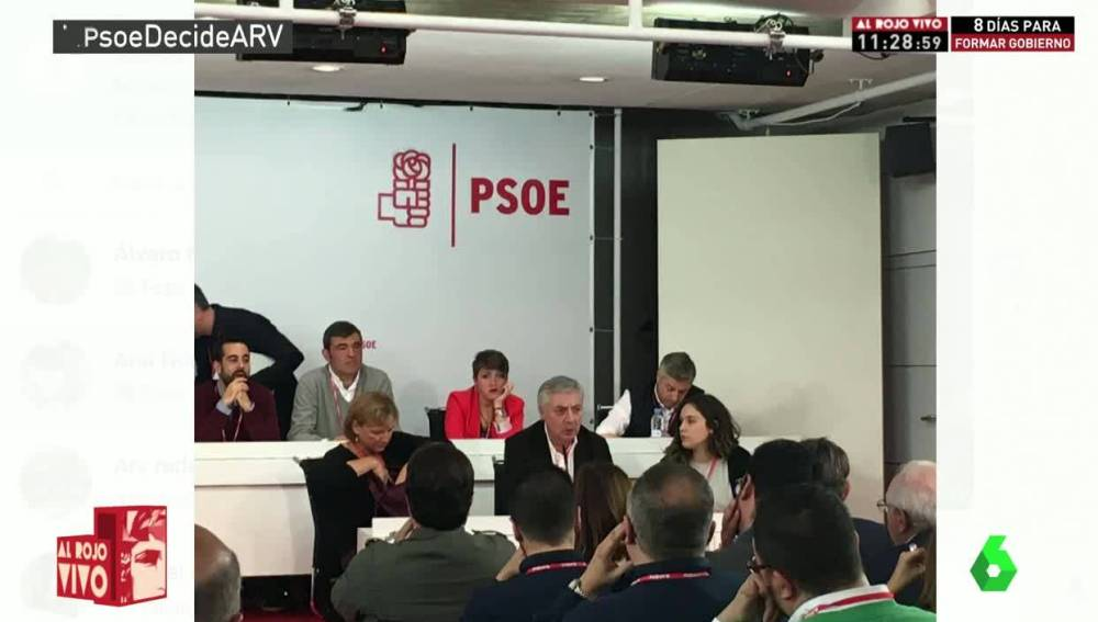 Mesa del comité federal del PSOE