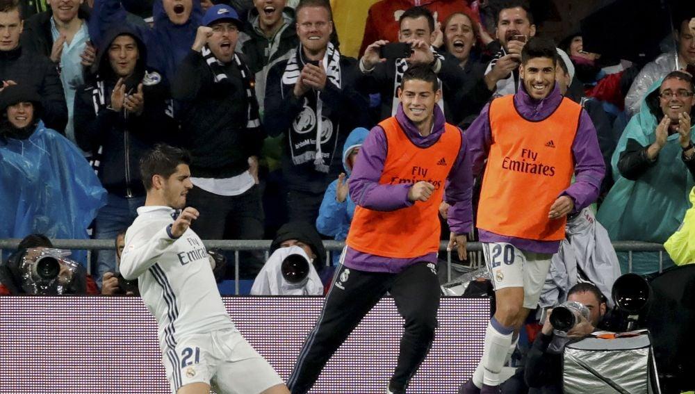 Morata celebra su gol ante el Athletic