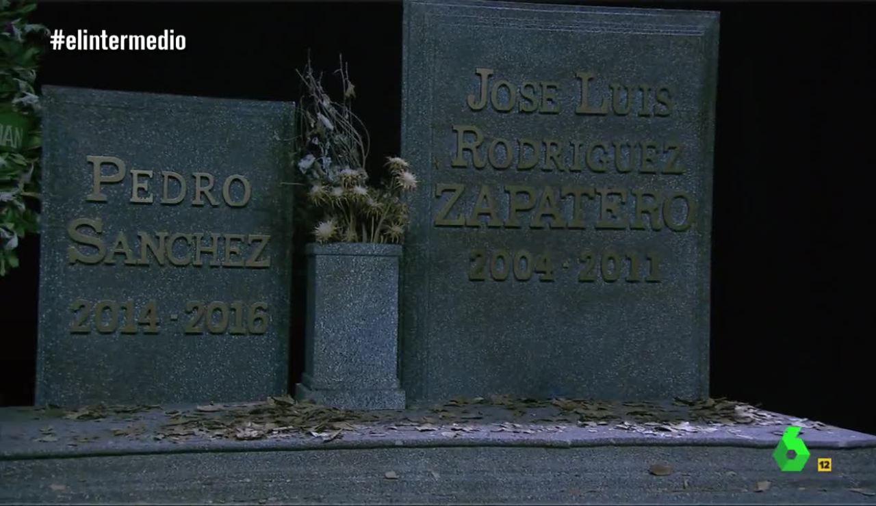 Wyoming visita la tumba de Sánchez y Zapatero