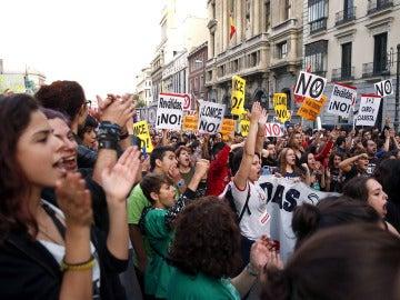 Manifestantes contra la LOMCE en Madrid