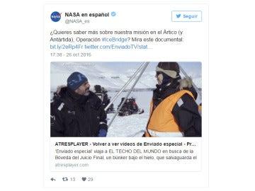 Tuit de la NASA
