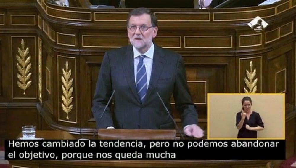 Frame 0.0 de: Rajoy asegura que los desempleados tienen ahora más esperanza de encontrar un empleo