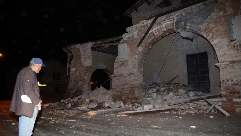Daños por el terremoto en el centro de Italia