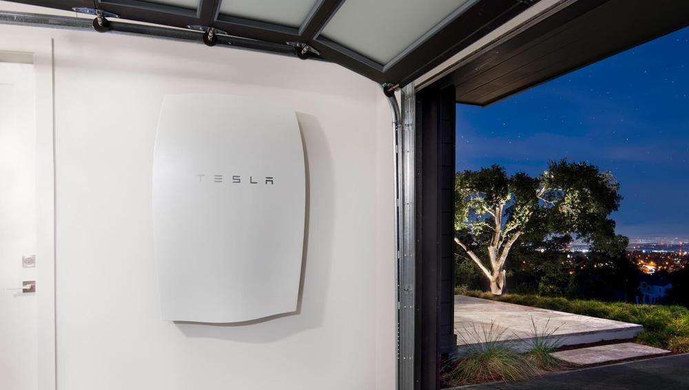 Un modelo de la batería Powerball de Tesla