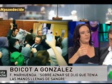 "Frame 6.60039 de: Bescansa: ""Felipe González es miembro del Consejo de Administración de Gas Natural"""