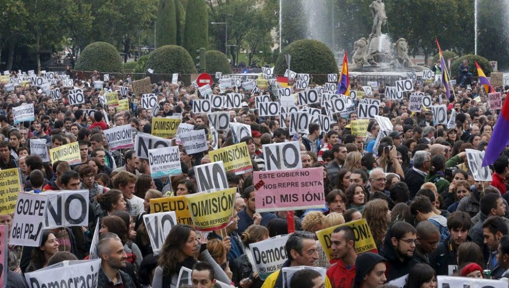 Imagen de archivo de una de las manifestaciones 'Rodea el Congreso'.