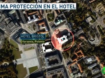 El hotel del Madrid en Varsovia, blindado por la policía
