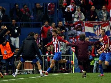 Griezmann celebrando el gol de la victoria ante el Rostov