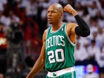 Ray Allen, durante un partido con los Boston Celtics