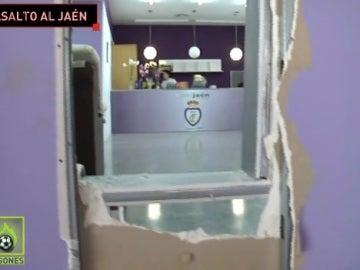 Imagen del robo sufrido en el estadio del Real Jaén