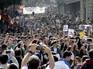 Manifestación de estudiantes (Archivo)