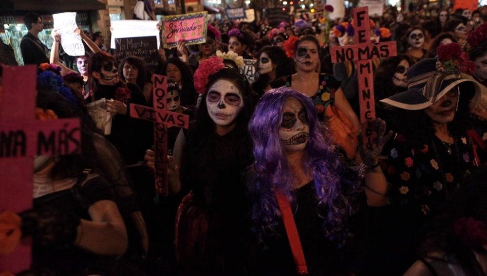 Protestas en México contra la violencia machista
