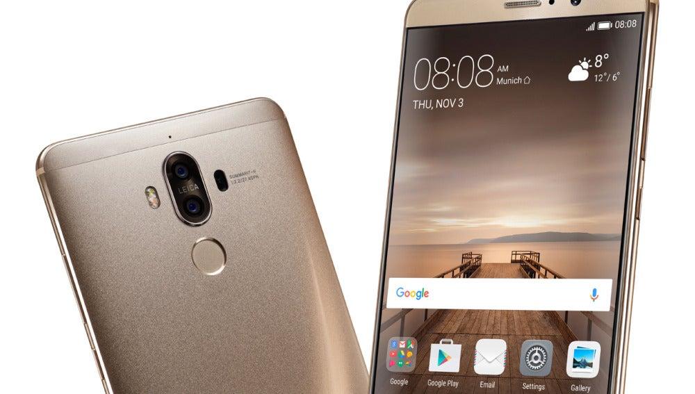 Huawei Mate 9 frontal y trasero