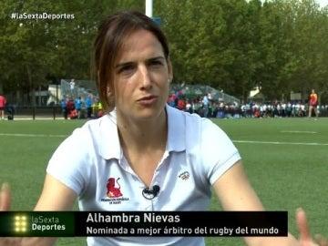 Alhambra Nievas, árbitro de Rugby