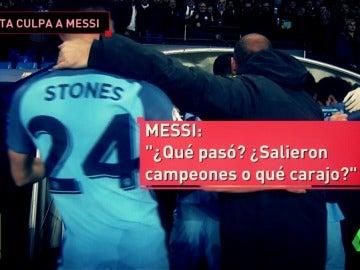 """Frame 82.689557 de: Arteta niega haber empezado la bronca con Messi: """"¿Qué ganaron, la Champions?"""""""