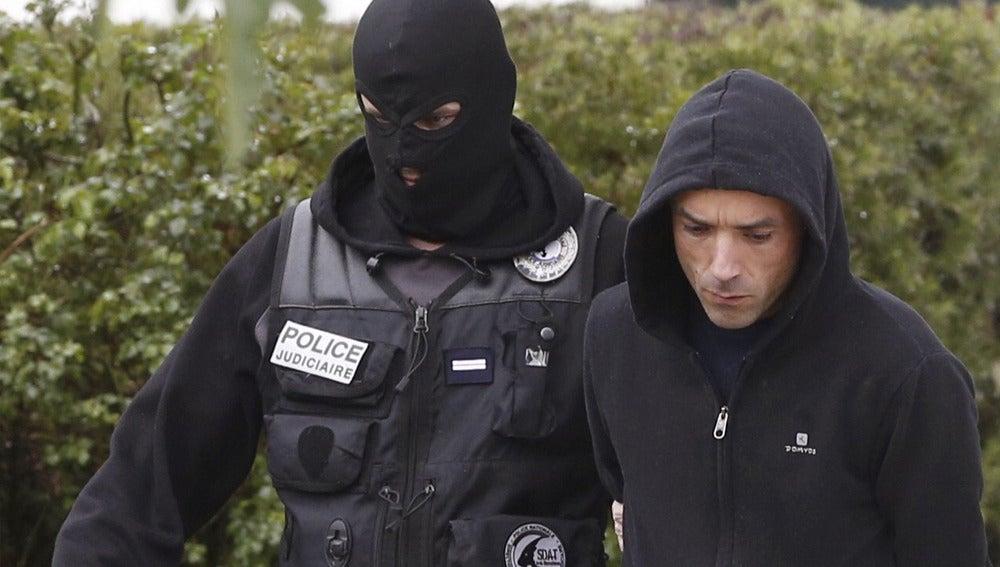 El actual líder de la organización terrorista ETA, Mikel Irastorza, tras su detención