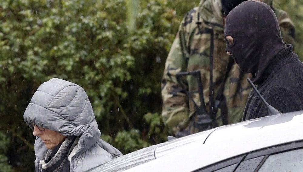 Una de las personas detenidas en el operativo contra ETA
