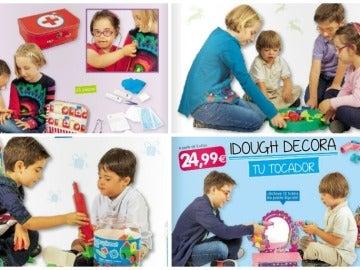 Varios de los menores con Síndrome de Down en el catálogo