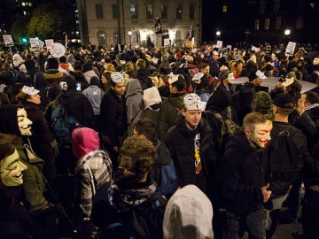 La manifestación de 'Anonymous' en Londres