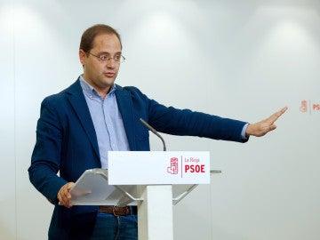 El exsecretario de Organización del PSOE y líder de los socialistas riojanos, César Luena