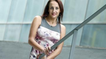 La activista transexual Tina Recio, que lleva siete años movilizándose por los derechos de las personas transexuales,