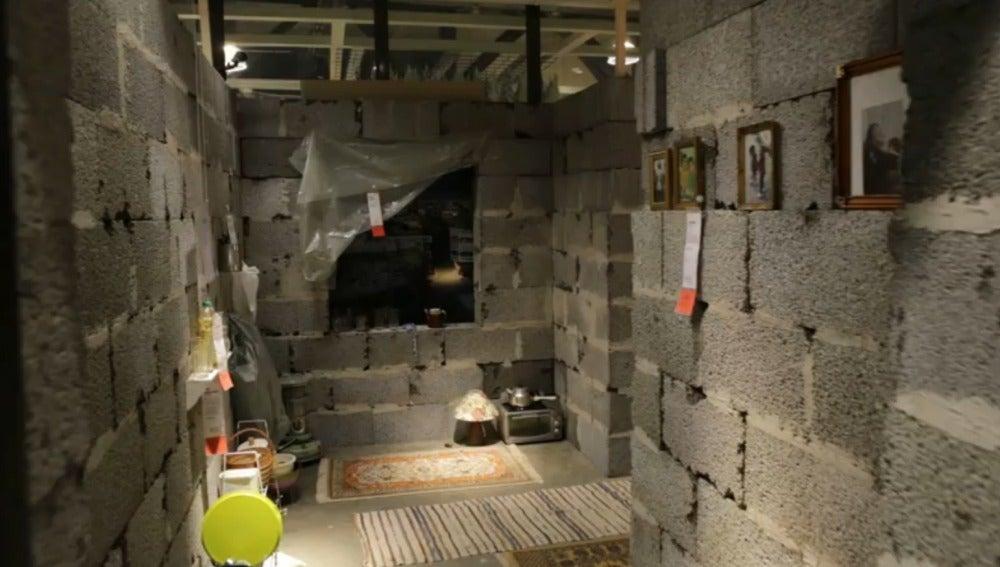 Ikea recrea en su tienda de Noruega una casa siria destruida y recauda 24 millones de euros para Cruz Roja