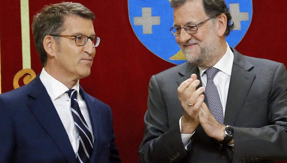 Alberto Núñez Feijóo y Mariano Rajoy