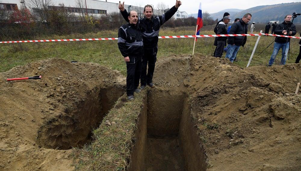 Imagen de los ganadores del concurso: los hermanos Skladan