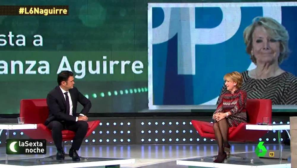 Esperanza Aguirre con Iñaki López