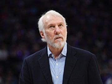 Gregg Popovich, durante un partido con los Spurs