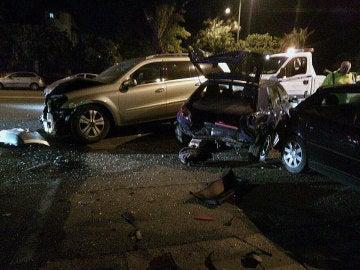 Accidente de tráfico provocado por un menor de edad que intentaba eludir un control de alcoholemia