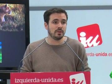 """Frame 8.752244 de: Alberto Garzón: """"Vamos a un escenario de chantaje donde será o el PP o el botón de las terceras elecciones"""""""