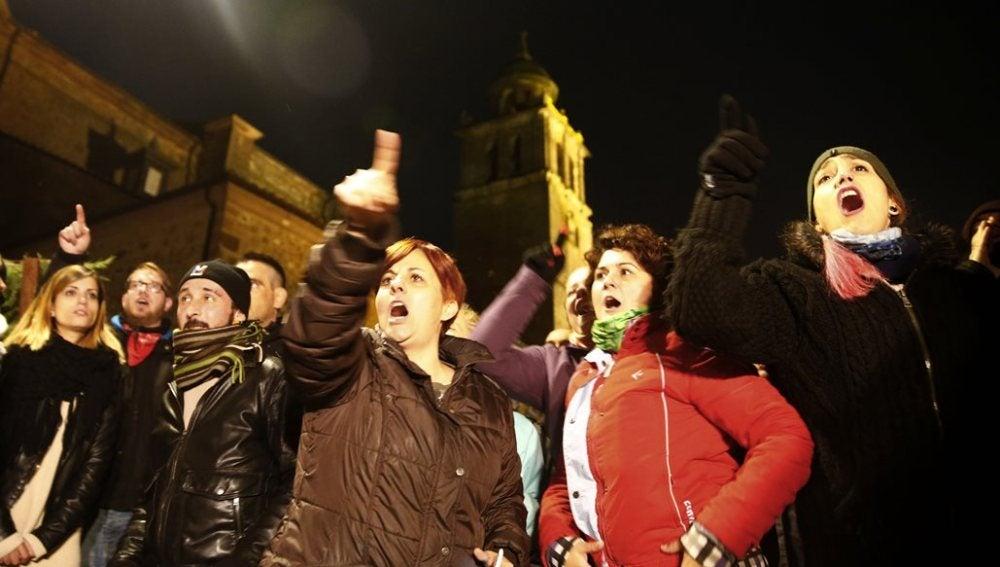 Manifestación contra la celebración en Medinaceli, Soria, del 'Toro Jubilo'