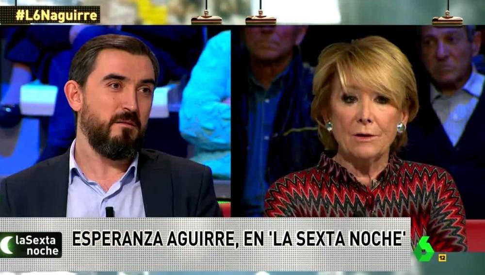 Esperanza Aguirre responde a Ignacio Escolar