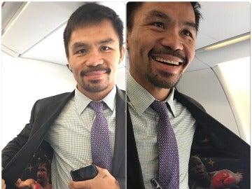 Manny Pacquiao muestra su chaqueta