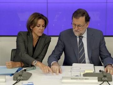 María Dolores de Cospedal, junto a Mariano Rajoy