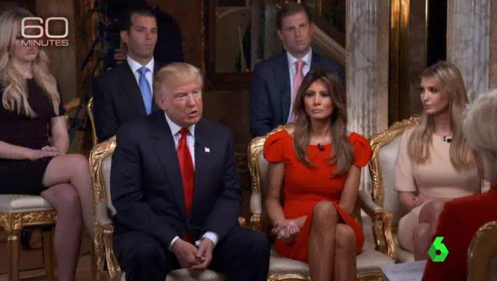 Frame 0.0 de: Trump reitera su intención de construir un muro con México y renuncia al salario como presidente de EEUU