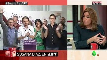 """Frame 14.513713 de: Susana Díaz: """" No me gustan los populismos, ni los personalismos ni aquellos que ponen en cuestión la democracia"""""""