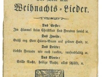 El folleto donde han encontrado la versión de 'Noche de Paz'