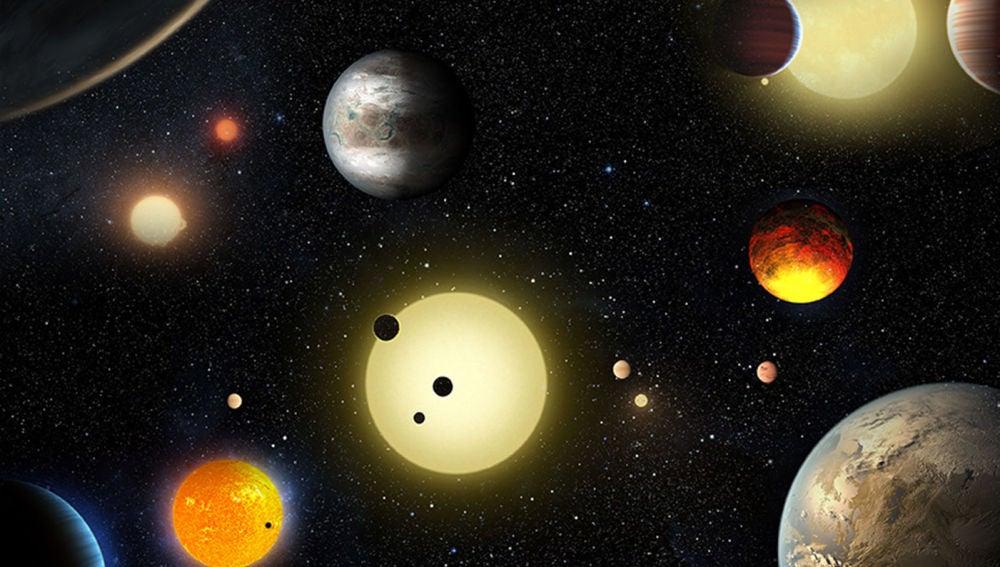 Varios planetas y sus soles