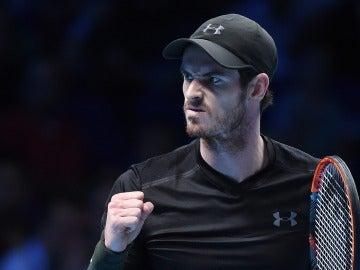 El tenista británico Andy Murray celebra la victoria ante el croata Marin Cilic