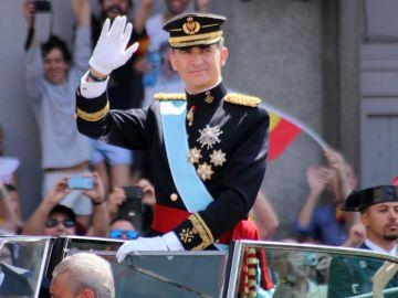 El Rey Felipe VI durante su coronación