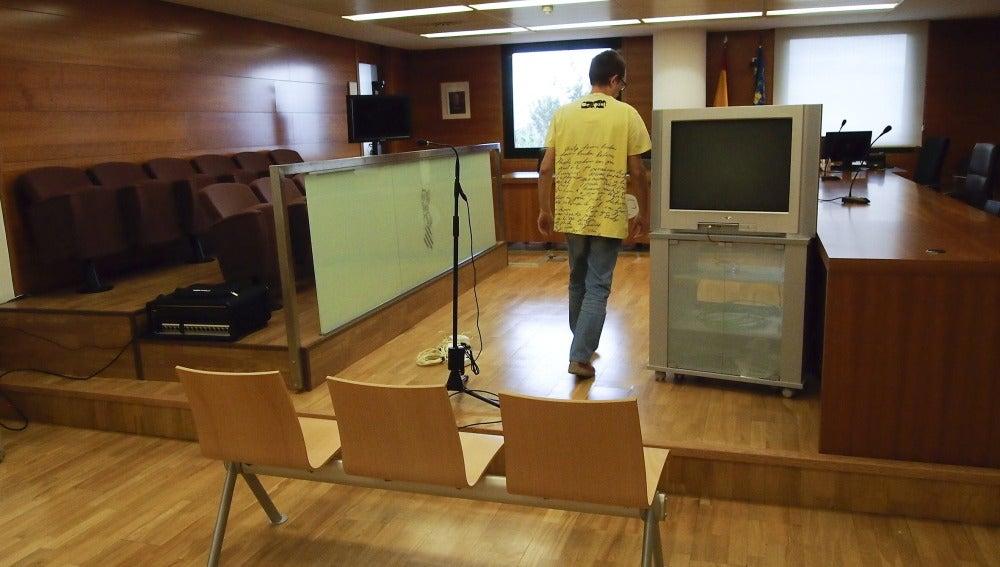 Sala de vista de la Audiencia provincial de Castellón