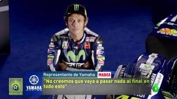 Frame 76.462536 de: Yamaha intenta resta importancia a la patada de Rossi