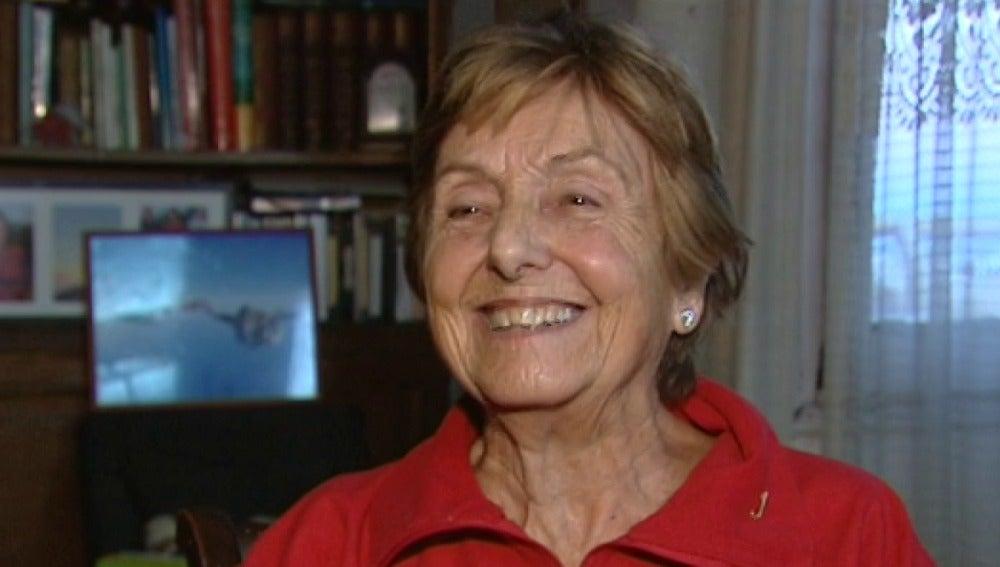 Monste Mechó, la anciana de 83 años que ha cumplido su sueño: saltar en paracaídas