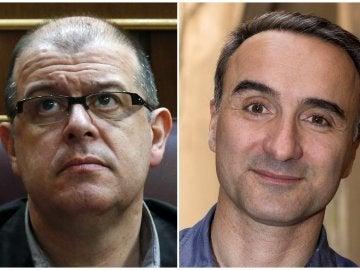 Los representantes del PSC José Zaragoza y Pere Joan Pons