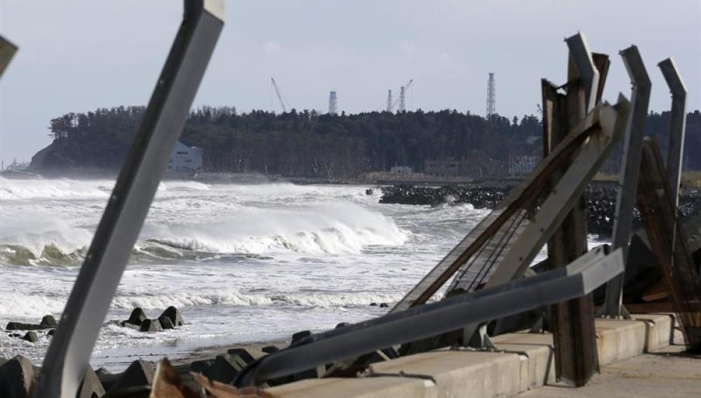 Vista de los alrededores de Fukushima