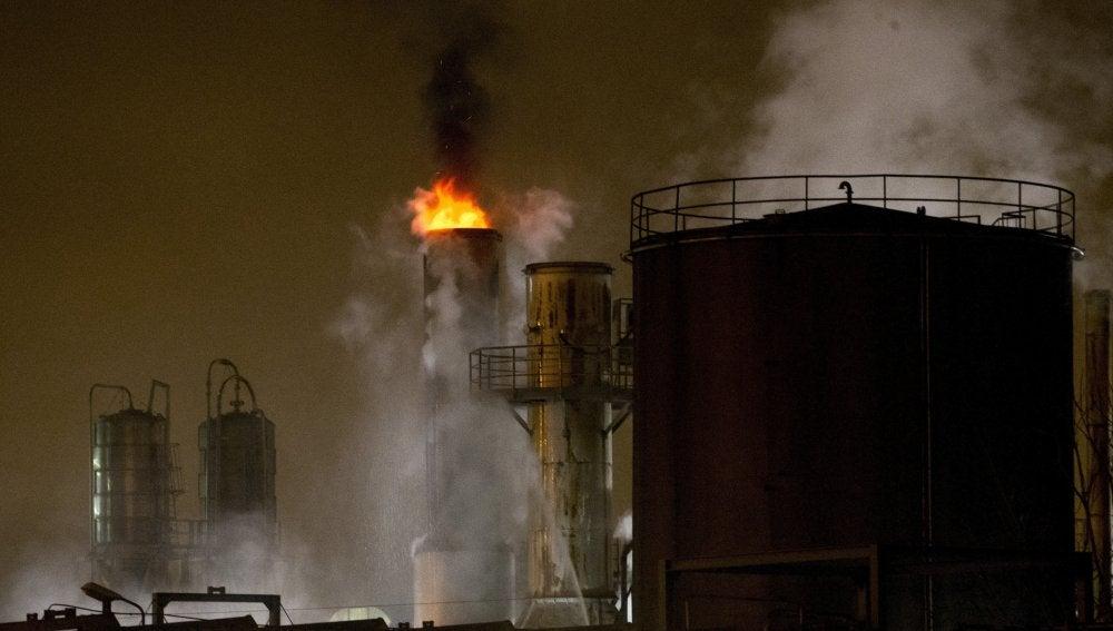 Incendio en una fábrica de Barcelona