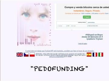 """Captura de la página """"Pedofunding"""", nueva forma de financiación para pedófilos"""