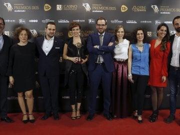 El equipo de laSexta Noticias, con el Premio Iris al Mejor Informativo